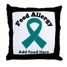 Personalized Food Allergy Throw Pillow