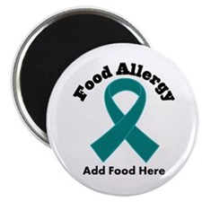 "Personalized Food Allergy 2.25"" Magnet (10 pack)"
