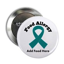 """Personalized Food Allergy 2.25"""" Button"""
