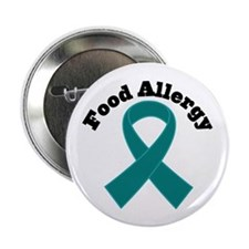 "Food Allergy Teal Ribbon 2.25"" Button (10 pack)"