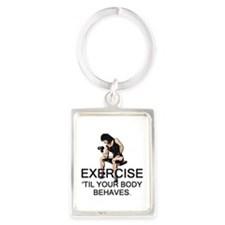 TOP Exercise Slogan Portrait Keychain