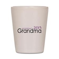 New Grandma Est 2013 Shot Glass