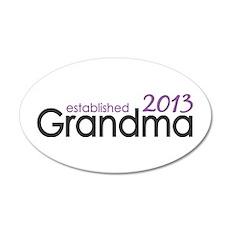 New Grandma Est 2013 35x21 Oval Wall Decal