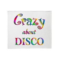 Crazy About Disco Throw Blanket