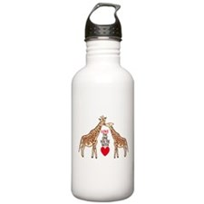 Giraffe Love Water Bottle