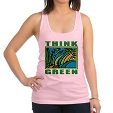 Think Green Racerback Tank Top