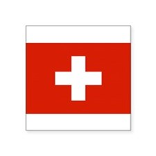 Swiss Flag Rectangle Sticker
