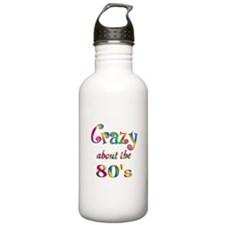 Crazy About The 80s Water Bottle