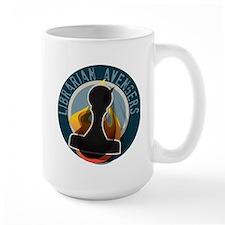 The Flaming Stamp Large Mug