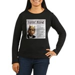 lyinking5.jpg Women's Long Sleeve Dark T-Shirt
