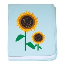 Sunflowers baby blanket