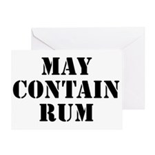 May Contain Rum Greeting Card