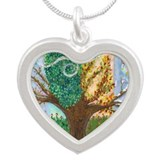 Winds of Change Silver Heart Necklace
