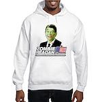 Zombie Reagan for President Hooded Sweatshirt