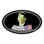 Vote Zombie Reagan in 2008 Oval Sticker