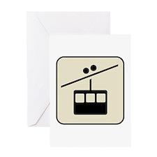 Gondola Aerial Tram Greeting Card