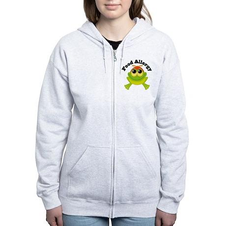 Food Allergy Frog Women's Zip Hoodie