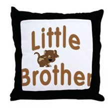 Little Brother Spotted Puppy Throw Pillow