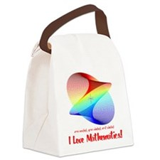I Love Mathematics Canvas Lunch Bag