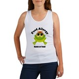 Personalized Food Allergy Frog Women's Tank Top