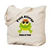 Personalized Food Allergy Frog Tote Bag