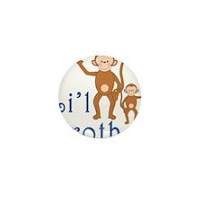Little Brother Cute Monkeys Mini Button