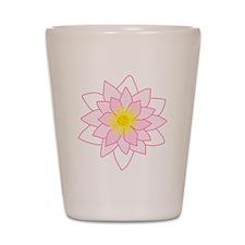 Pink Lotus Flower. Shot Glass