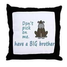 Dont Pick Little Brother Gorilla Throw Pillow