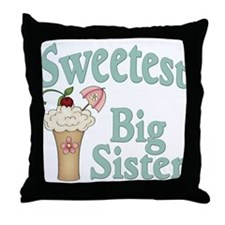 Sweetest Big Sister Malt Throw Pillow