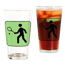 Tennis Player Drinking Glass