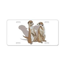 two suricates... Aluminum License Plate