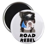ROAD REBEL BOSTON TERRIER BIKER LOOK Magnet