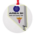 Alien Life Support Round Ornament