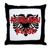 Albanian Blood Throw Pillow