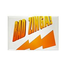 Bad Zinga Rectangle Magnet