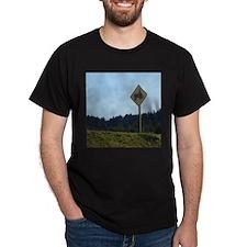 Farmer Crossing Sign T-Shirt