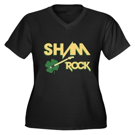 Sham Rock Plus Size V-Neck Shirt