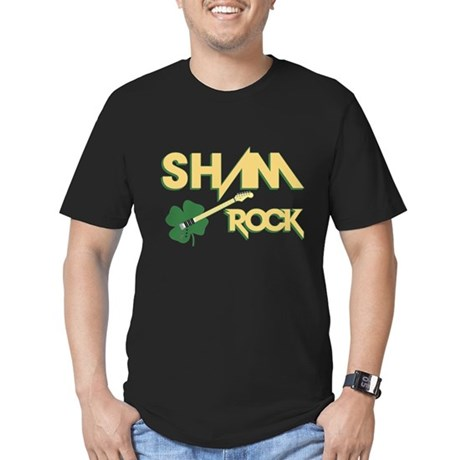 Sham Rock Men's Fitted T-Shirt (dark)