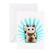Lucky Cat (Maneki-neko) Greeting Cards (Pk of 20)