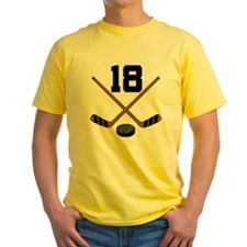 Hockey Player Number 18 T