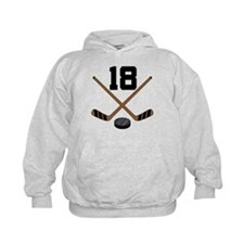 Hockey Player Number 18 Hoodie