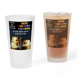 USS NEW JERSEY (BB-62) Drinking Glass