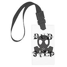 Dubstep Grey Gas Mask Luggage Tag