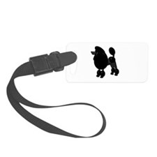 BLACK POODLE Luggage Tag