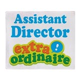 Assistant Director Extraordinaire Throw Blanket