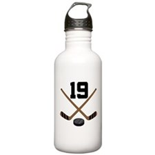 Hockey Player Number 19 Water Bottle