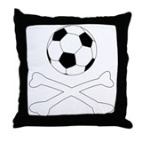 Bloody Football Hooligan Throw Pillow
