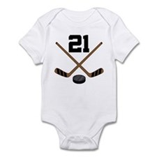 Hockey Player Number 21 Infant Bodysuit