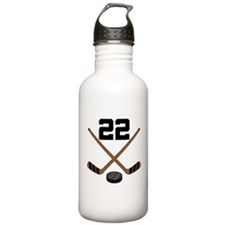 Hockey Player Number 22 Water Bottle