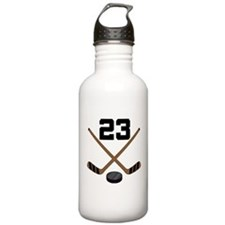 Hockey Player Number 23 Water Bottle